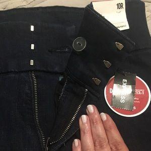 Express Jeans - NEW Express women's dark denim leggings; 10 Reg